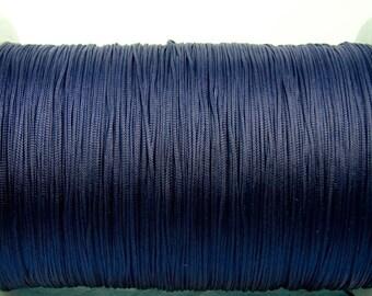 5 m macrame ribbon cord cord 1 mm dark blue glossy