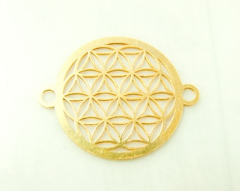 Flower of life in Sterling silver 925/- gold pl. art.3142