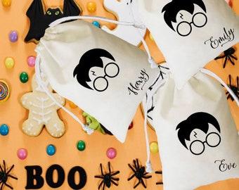 Harry potter bag, Trick or treat favor, halloween party, halloween bag, halloween decoration, halloween gifts, halloween candy bag