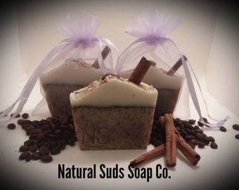 Almond Amaretto & Cinnamon Soap- Handmade Soap- All-Natural Soap- Gift Soap- Eczema Soap