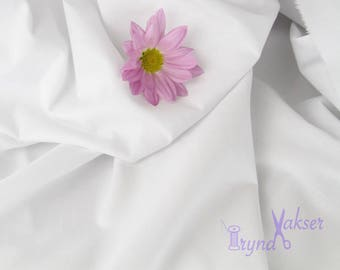 White Lining Fabric • Sold by the Yard • Cotton Lining