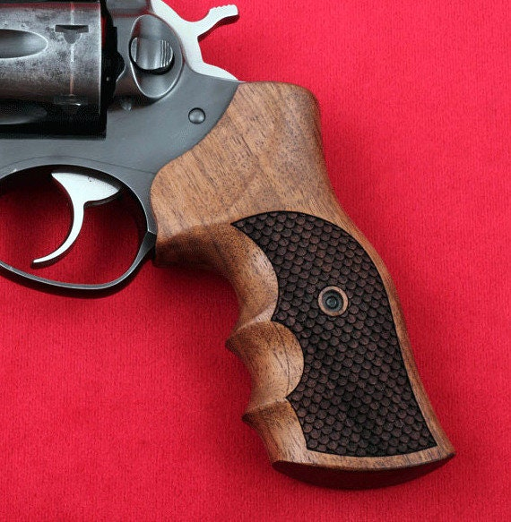 RUGER GP100 grips made from Walnut wood  (make your own custom pair of  grips)