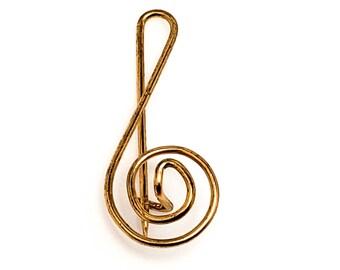 Vintage Musical Note Music Design Pinbrooch 925 Sterling Bb 455 123756529317