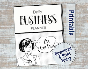 365 Page Printable Business Planner - Instant Download - Graysacle for Easy Affordable Printing