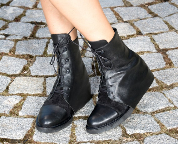 Black genuine woman woman leather boots boots boots genuine extravagant leather 4qIw4r