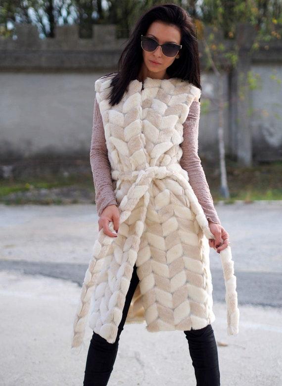 Femme eco fourrure gilet femme vegan gilet femme sleeveles manteau/eco sleeveles manteau de fourrure