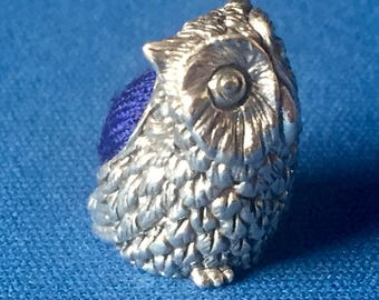 An Owl Pin Cushion Victorian Style sterling silver .925