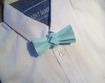 water green origami bowtie