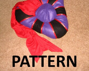 Medieval Judge Hat Sewing Pattern and Guide