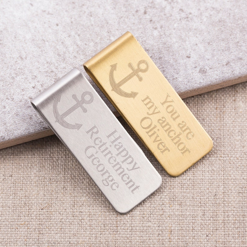 Nautical gift groomsmen gift gift for him Fathers gift unique gift personalized gift mariners gift Anchor Money Clip wedding gift