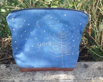 Strong - hand stitched and dyed bag