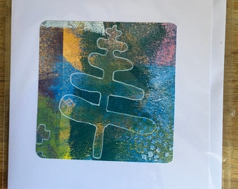 Original hand painted blank cards with envelope