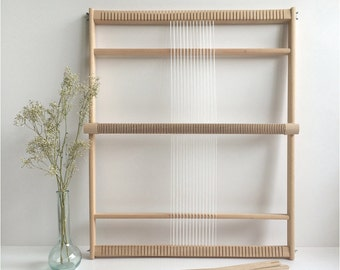 Weaving Loom XXL with heddle bar, stand (optional) and rotating warp bars / Frame Loom / Weefraam