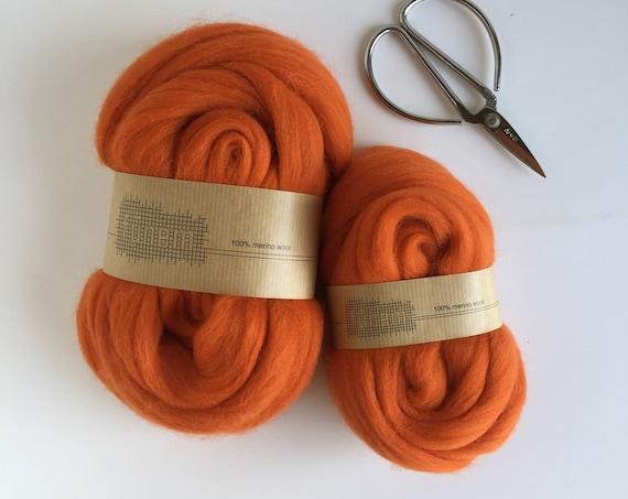 Organic Merino Wool Roving 636 Brick