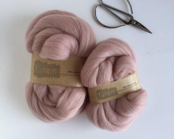 Organic Merino Wool Roving 606 Blush
