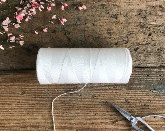Bright White Warp Thread
