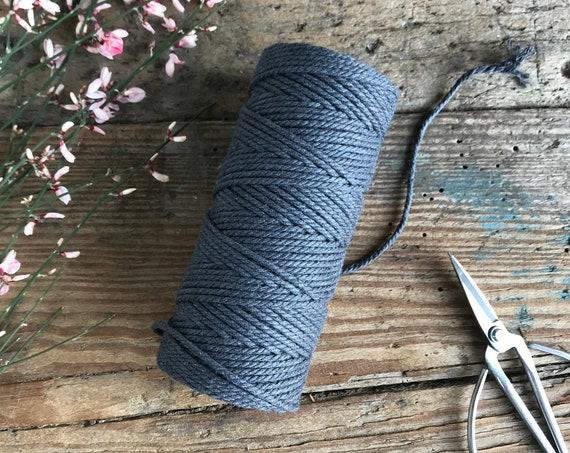 Cotton String 2mm Dark Grey
