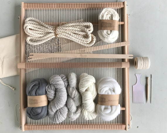 XXL Weaving Project Kit / Starters kit / Weaving Loom / Weefraam / Kit de Tissage debutant