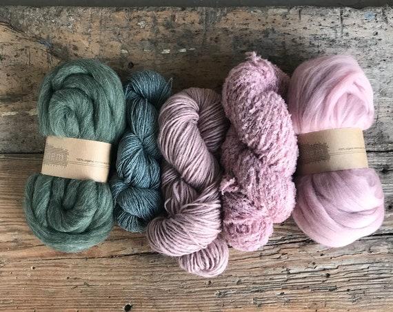 Fiber Pack Forest Green & Blush
