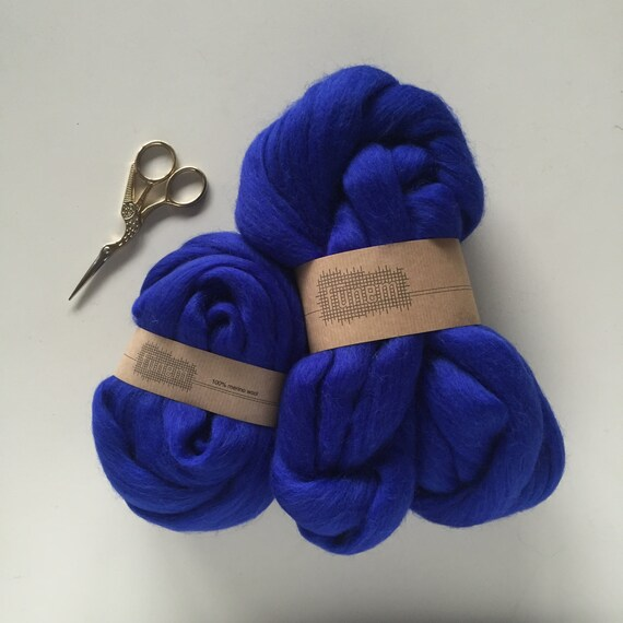 Merino Wool Roving 703 Electric Blue