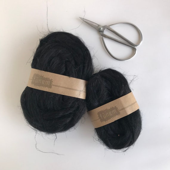 Flax Fibers Black / Vlas lont