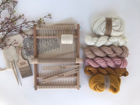 Small Weaving Project Kit Pink & Ochre