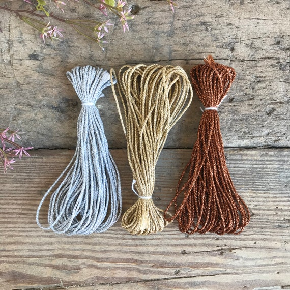 Metallic String 1mm Silver / Gold / Copper