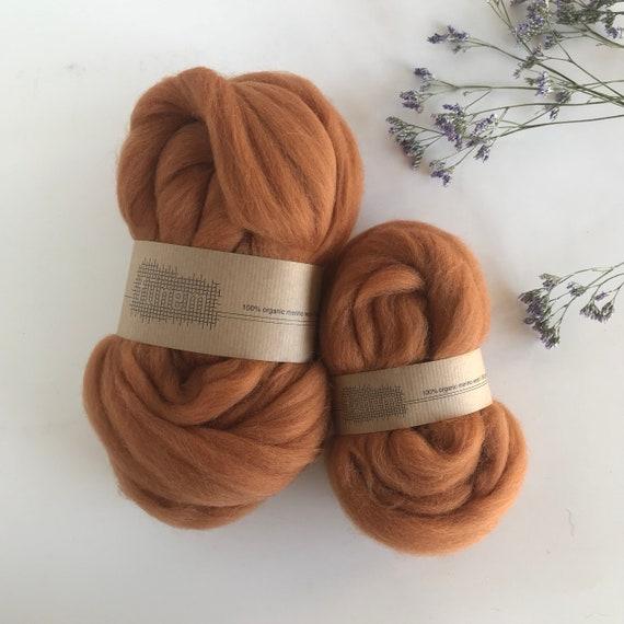 Organic Merino Wool Roving 618 Fox