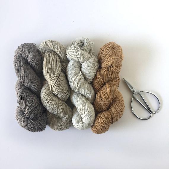 Recycled Denim Yarn Pack Earthy Tones