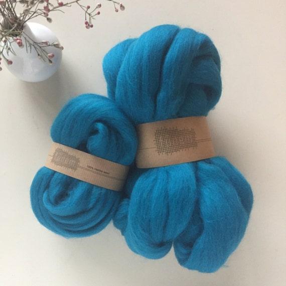 Merino Wool Roving 551 Dark Turquoise