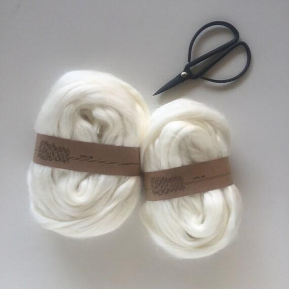 Tussah Silk / Undyed Silk Fibers / Zijde lont / Tussahzijde / Fibre / Fibers /