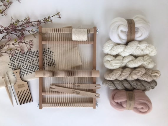 Small Weaving Project Kit Off-White & Oyster