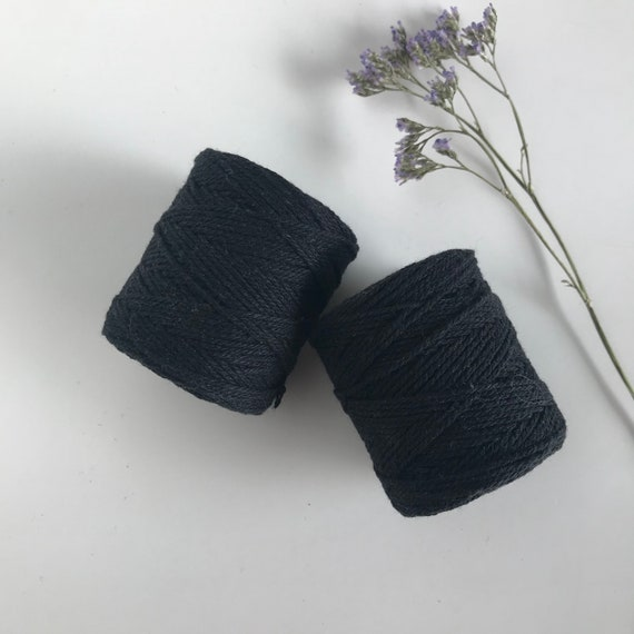 Cotton Rope 1mm Black 50 grams