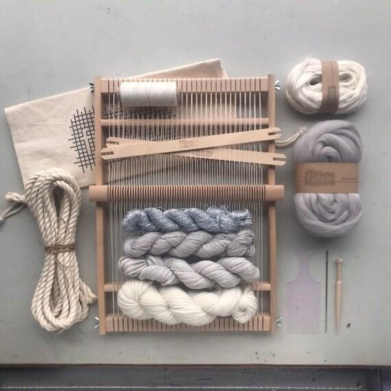 Weaving Project Kit Large / Starters kit / Weaving Loom / Weefraam / Kit de Tissage debutant