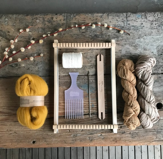 Weaving Gift Pack Limited Edition ! Weaving Loom kit including fibers