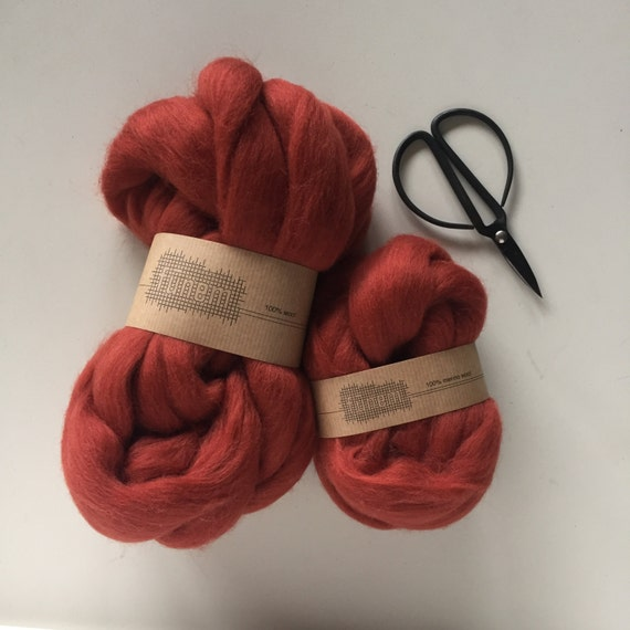 Merino Wool Roving 570 Stone Red