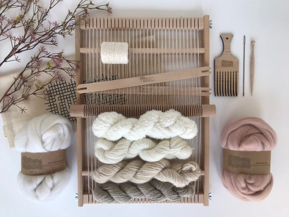 Large Weaving Project Kit Off-White & Oyster