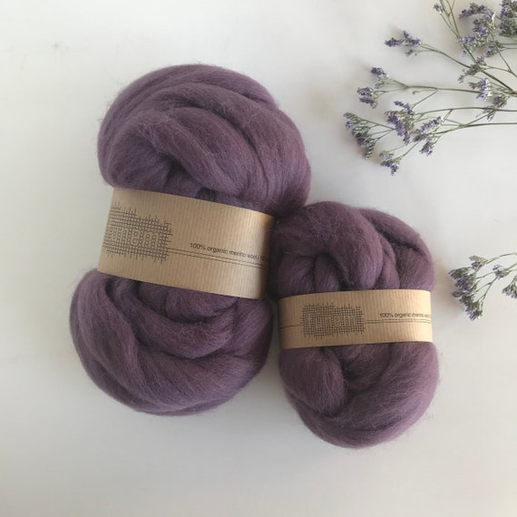 Organic Merino Wool Roving 614 Dusty