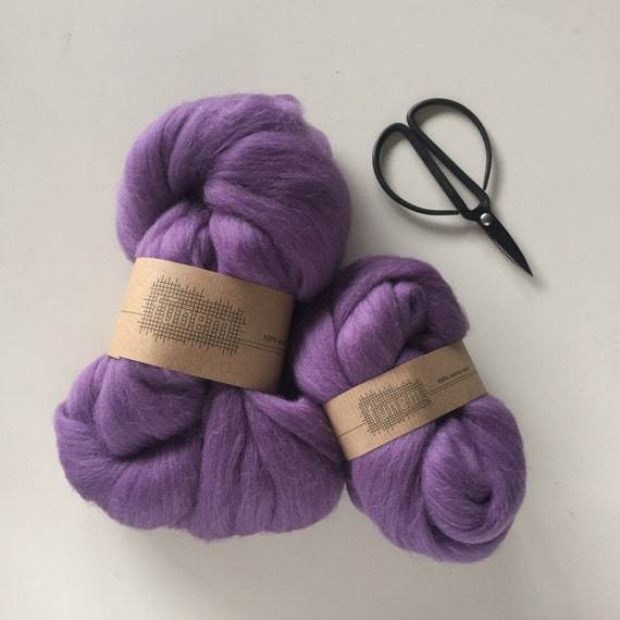Merino Wool Roving 531 Lila