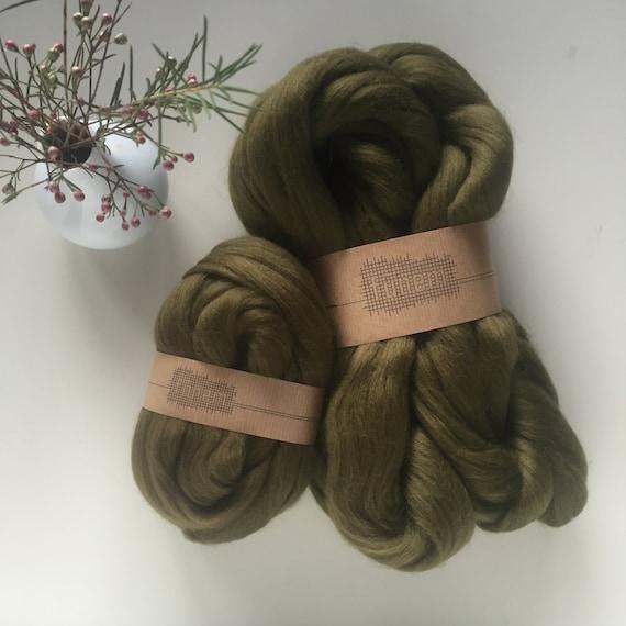 Merino Wool Roving 537 Olive Green