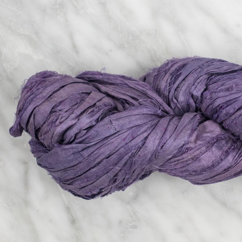 Mauve Recycled Sari Silk Ribbon
