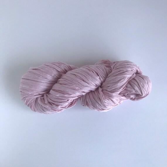 Paper Tape Yarn Pastel Pink
