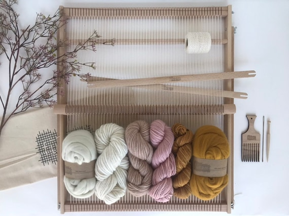 XXL Weaving Project Kit Pink & Ochre