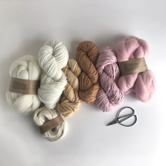 Fiber Pack in Pink, Ochre, Off-White