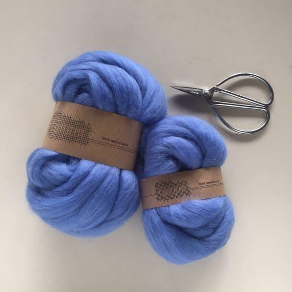 Merino Wool Roving 529 Light Vintage Blue