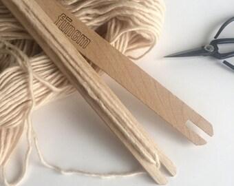 Set of 2 Weaving Shuttles in Beech Wood / Shuttle / Weaving Supply