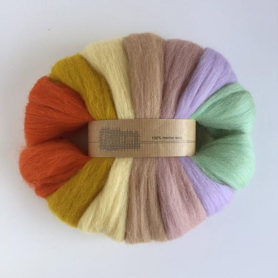 Organic Merino Wool Roving Pack