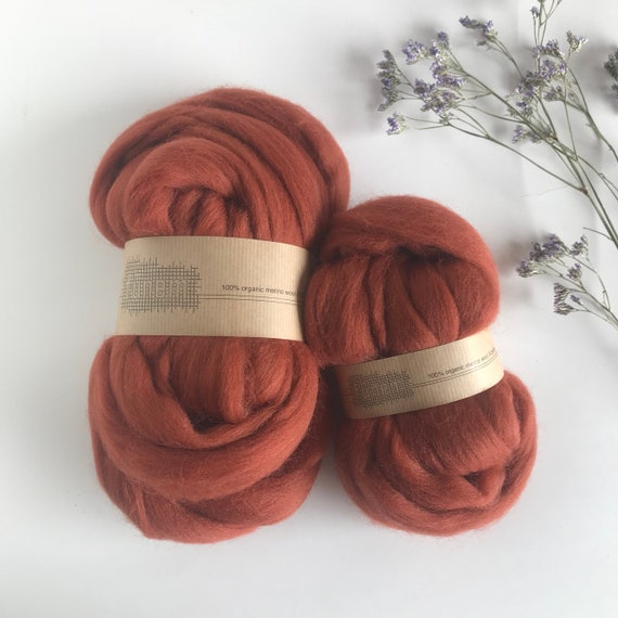Organic Merino Wool Roving 608 Autumn