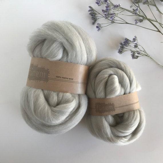 Merino Wool Roving Extra-fine Beige Melange