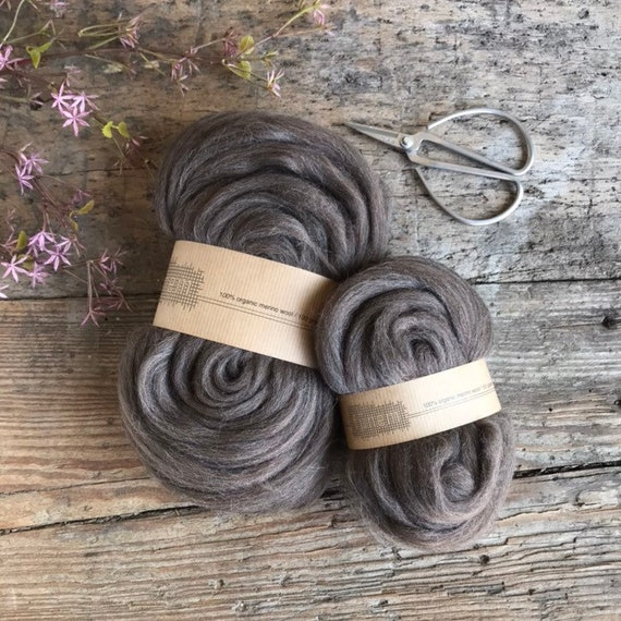 Organic Merino Wool Roving 652 Earth Blend